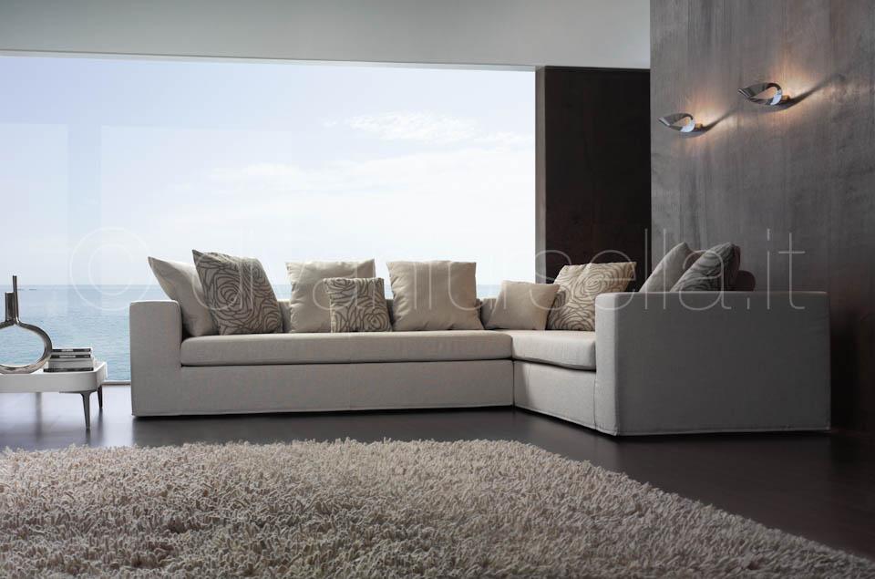 Divani ad angolo ares divani d 39 autore by salotti ursella for Rivestire divano ad angolo